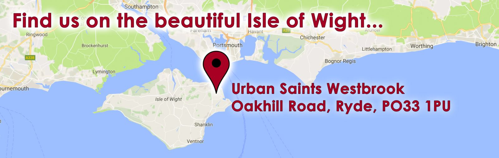 Find us on the beautiful Isle of Wight...